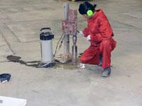 Взятие проб бетона (кернов) методом алмазного бурения