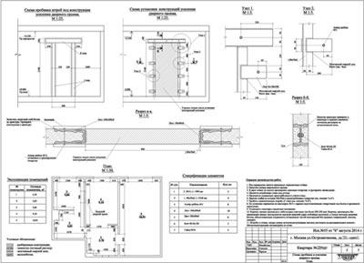 Проектные решения по пробивке дверного проема, исполнительные схемы и технология выполнения работ.